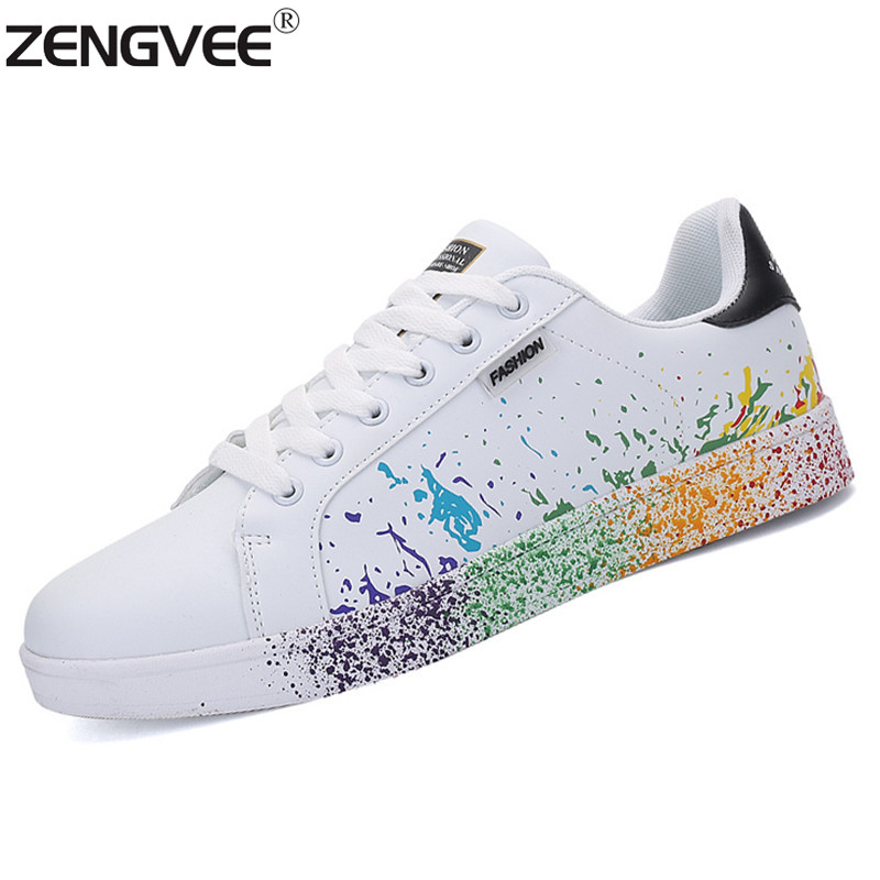 New Unisex Shoes Men Women Casual Shoes White Breathable Lace Up Zapatillas Tenis Shoes For Adults Lovers Shoes Sport Size 35-45<br><br>Aliexpress