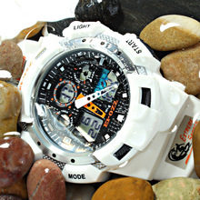 EPOZZ high quality watches men synchronize MOV 100M water resistant 1 year warranty white sport wrist watch E3001WHITE(China)
