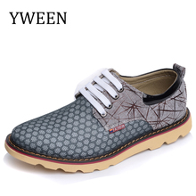 YWEEN 2017 New Men's Casual Shoes Men Air Mesh British Trend Style Oxford Shoes Man Big Size Shoes For Summer
