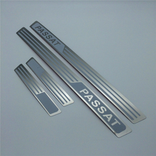 Door Sill Scuff Plate guards stainless steel for Volkswagen VW Passat 2011(China)