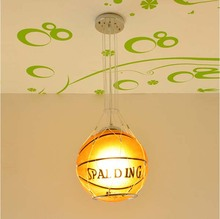 Child's bedroom football Pendant lamp,Children basketball Pendant light Drop lights 25cm diameter Glass cover/fixture CP142(China)
