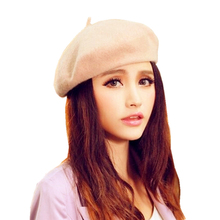 Mileegirl Women Artist Beret Cap,6 Colors French Style Autumn&Winter Vintage Soft Felt Wool Beanie Hat, Fashion Classic Berets