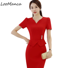 Buy Summer office dress Women elegant Business work wear Dress Slim Formal Dresses sexy party dresses plus size women clothing for $23.99 in AliExpress store