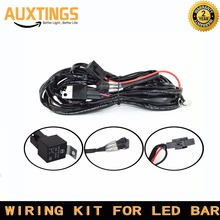 FREE SHIPPING great electrical wiring waterproof Universal Car Wiring Harness Kit Loom for high power LED 4X4 Light Bar 12V