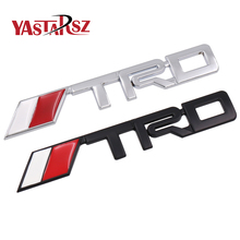 New 3D Chrome TRD Racing Development Logo Metal Emblem Badge Cool Car Styling Decal for Toyota Car Tail Door Head Car Sticker(China)