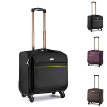 New Arrival 16inch Oxford Cloth Business Luggage Travel Suitcase Boarding Laptop Trolley Travel Bag Spinner Bag On Wheels