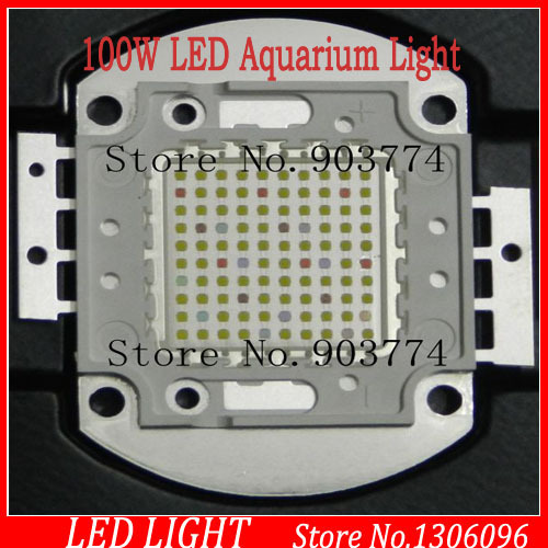 DHL Free shipping,1pcs 100w DIY led aquarium ,blue white 2 colors,1.05A 15-17V,50000h lifespan,fast delivery<br>