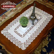 Garden Luxury Water Soluble Lace Table Cloth Embroidered Tablecloths Coffee Table Towel Table Runner Cover Towel Placemat C-003