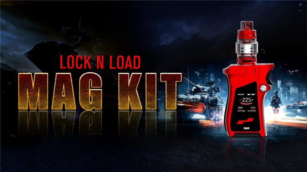 SMOK Mag Kit 225W Alien Mech Box Mod E Cigarette Vaporizer Electronic Cigarette VS Eleaf ikonn 220 Buy Kit Get 3 Coil free S190