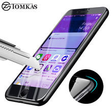 TOMKAS Tempered Glass For iPhone 7 7 Plus 3D Edge Anti UV Blue Light Full Cover Premium Screen Protector For iPhone 7 Glass