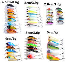 45pcs/lot Hard Baits Artificial Make High Quality Fishing Lures Mixed 6 Models Wobblers Fishing Tackle 45 Colors Biat Mix Z-T158(China)