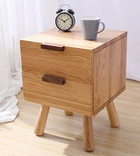 Modern Design Wood Bedside Table cabinets chest of drawers Minimalism Small Table counter(China)