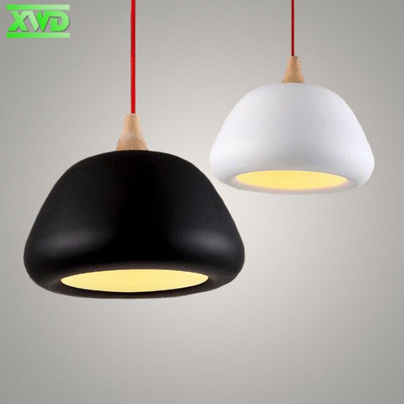Restaurant Pendant Lamp Modern Aluminum Wood American Lights  E27 Lamp Holder 110-240V Dining Room/Coffee House Indoor Lighting <br>