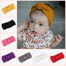 Children with winter babies in Bohemia style hair band knitting wool baby ear hair wigs(China)