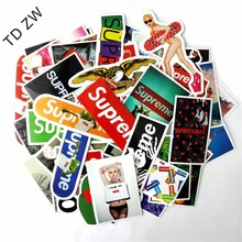 TD ZW 60pcs/lot The Muppets Supreme Kermit car styling Fashion brand Sexy PVC stickers For Suitcase Skateboard Laptop vinyl