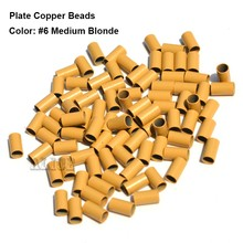 Plate Edge Copper Micro Rings 4.0*3.6*4.0mm Dreadlock Beads Hair Extension Micro Beads Micro Ring Hair Links Tools(China)