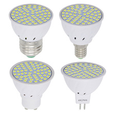 Lampada Led Lamp AC 220V 230V E27 E14 GU10 MR16 SMD 2835 Led Spotlight 48 60 80leds Energy Saving Bombillas Led Bulb(China)