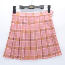 Women Girls Short High Waist Pleated Skater Skirt School Skirt Uniform With Inner Shorts Skirt Girl's Tenni Skirt HO811647