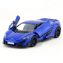 Scale 1:36 Kinsmart Sports Car Model Toy, Alloy & ABS 675LT Racing Cars Models, Simulation Vehicle For Boys, Kids Toys, Juguetes
