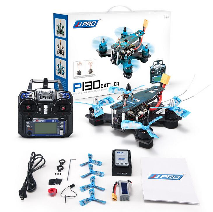 Newest DIY Mini Drone JJRC JJPRO P130 Battler 130mm with 5.8G FPV 800TVL 2.4GHz 6CH RC Racing Quadcopter Multicopter RTF