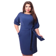 Women Sexy Bodycon Dresses Clubwear Formal Dress With Belt Plus Size New Sale