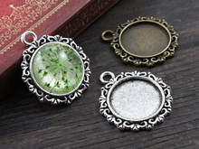 Buy 10pcs 18mm Inner Size Antique Bronze Silver Texture Style Cabochon Base Cameo Setting Charms Pendant for $1.28 in AliExpress store