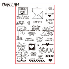 Happy Mail Sending Love Special delivery Scrapbook DIY photo cards rubber stamp clear stamp transparent stamp 10x15cm KW7083101(China)