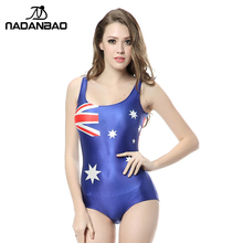 Sexy Bodysuit Bathing Suit World Flag 3D Digital Printed Women Swimwear Beach Wear Sleeveless One Piece Swimsuit CYQ1124