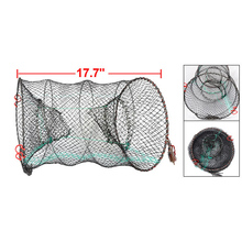 Black Lobster Crab Crawfish Shrimp Trap Cage Fishing Keep Catching Net Fisher