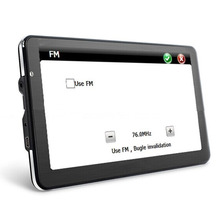 New 7 inch HD Car GPS Navigation TFT-LCD Touch screen FM Transmitter 4GB Vehicle Truck GPS navigator Europe America maps