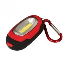 Creative COB LED Flashlight Light 3-Mode Mini Lamp Key Chain Ring Keychain PVC Lamp Torch Keyring Green/Red/Yellow/Blue