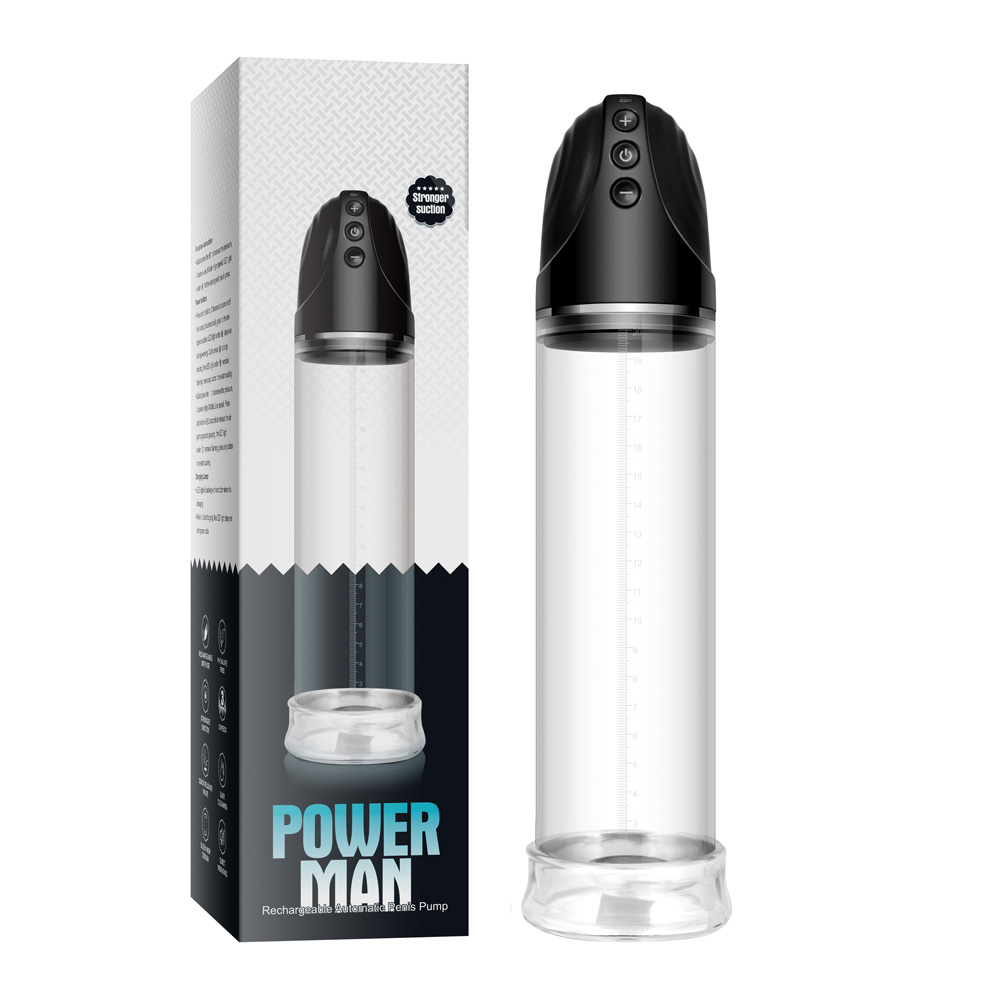 Rechargeable Automatic Penis Pump Electric Power Man Vacuum Penis Extender Cock Enlarger Dick Enlargement Sex Products<br>