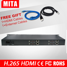 HD H.265 HEVC AVC 1U 4 Channels hdmi video server for IPTV streaming with UDP TCP