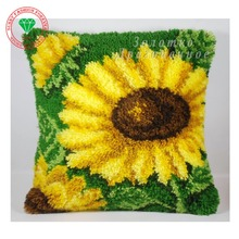Carpet embroidery flowers Sunflower Latch hook rug kits knitting needles crochet hooks Felt Craft Stitch threads Pillow Carpets