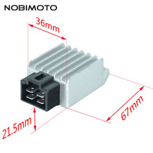 New Motorcycle Voltage Regulator Rectifier 12V 4Pin fit for Buggie with GY6 50cc 125cc 150cc Moped Scooter ATV Gokarts DQ-115