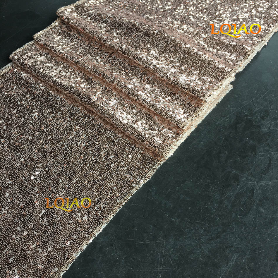 champagne Gold Sequin Table runner-001