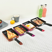 Creative Square Breakfast Omelette Pans Non-stick Aluminum Alloy Frying Pan Fashion Mini Saucepan Pans