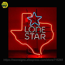 NEON SIGN For Lone Star Warranty Custom LOGO Real Glass Tube Beer Bar PUB Handcrafted Free Design Artwork Gift Night Lamp BRIGHT(China)