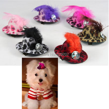 Pet Hat Hair Clip Party Show Cute Dog Hat Grooming Personalized Leopard Print Pet Products Mixed Colors