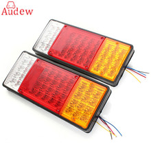 2x 44 LED Indicator Tail Light UTE Boat Trailer Truck Van For Camper Waterproof Kit