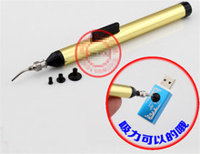 FFQ 939 Vacuum Sucking Pen Pencil L7 IC Easy Pick Picker Up Tool 3 Suction Headers SMD SMT Hand Tool Temperature Sensor Chip(China)
