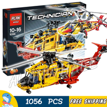 1056pcs Techinic 2in1 Heavy Lift Helicopter 3357 DIY Model Building Kit Blocks Gifts Aircraft Airplane Toys Compatible With lego