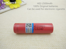 100% New Original 18650 3.7V 2500mAh Battery Power 35A Download For LG HE2 Rechargeable Batteries ICR18650 Industrial Cells use