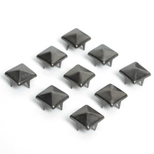 100pcs DIY 8mm Black Pyramid Studs Nailheads Rivet Spike For Punk Bag Leather Craft Bracelets Clothes Belt bag rivet stud