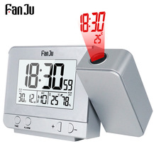 FanJu FJ3531 Projection Alarm Clock Digital Date Snooze Function Backlight Projector Desk Table Led Clock With Time Projection(China)