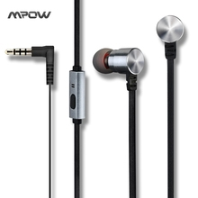 MWE3 Mpow Wired Black Earphone Special for Prtaoble Music Wire Stereo with Mic Microphone Handsfree Earphones for Mp3 Player(China)