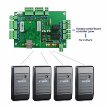 TIVDIO Access Control Proximity Card Reader Wiegand 26/34 EM-ID+TCP/IP Network Entry Access Control Board Panel Controller F1647(China)