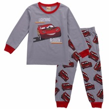 2017 spring autumn baby boys car printed clothes t-shirt + pants cotton suit children set Kids clothing bebe infant clothing