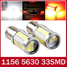1pcs p21w led 33SMD 1156 ba15s 12v 5630 5730 DRL bulb RV Trailer Truck car styling Light parking Auto led Car lamp red white