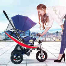 can sit can lie child bicycle adjust seat rubber wheel child bike inflatable wheel baby cart can folded child buggy